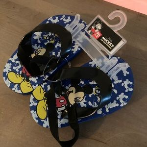 Mickey Mouse flip flops 90 year edition